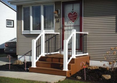Vinyl Railings with Metal Spindles