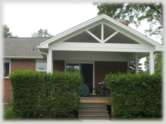 porches metal roofs and vinyl railings